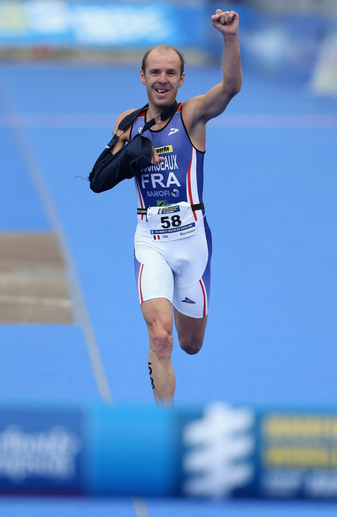 Yannick Bourseaux of France was among the winners today in the duathlon event ©Getty Images