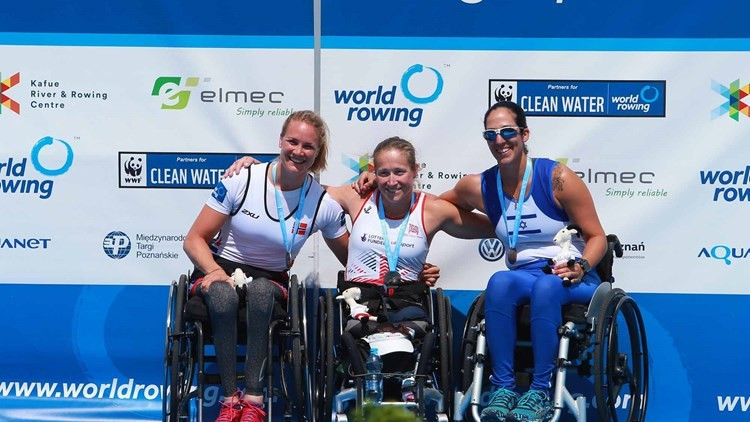 Rachel Morris won the para women's single sculls title in Poznan ©FISA
