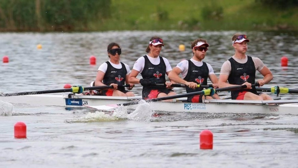 Canada were triumphant in the mixed coxed four final