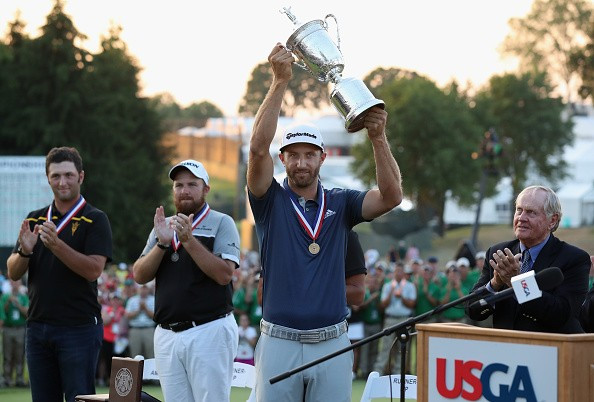 Dustin Johnson won his maiden major title in farcical circumstances ©Getty Images