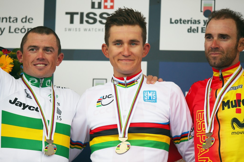 Poland's Michał Kwiatkowski won the men's road race in 2014