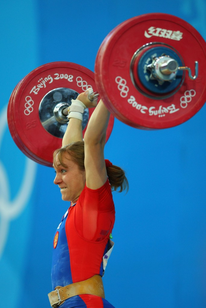 Russia's Marina Shainova, who won Beijing 2008 silver in the under 58kg class, is one of seven weightlifters to have returned adverse analytical findings from the Games ©Getty Images