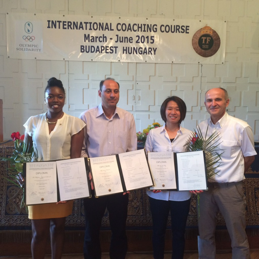 The course in Budapest was attended by coaches from all over the world