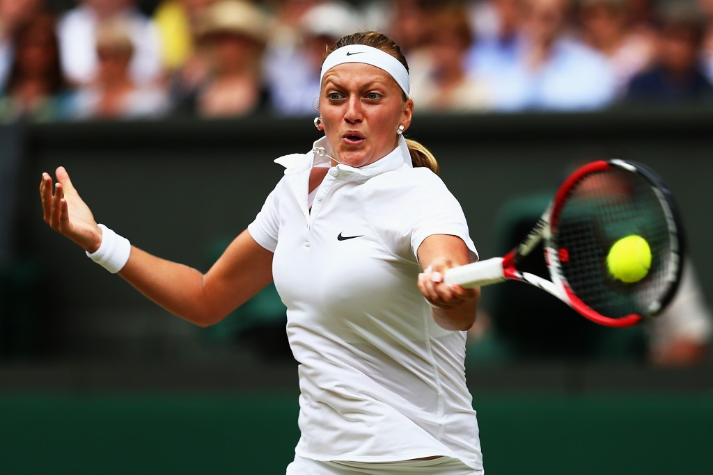 Kvitova has won the women's singles title at Wimbledon twice, in 2011 and 2014 ©Getty Images