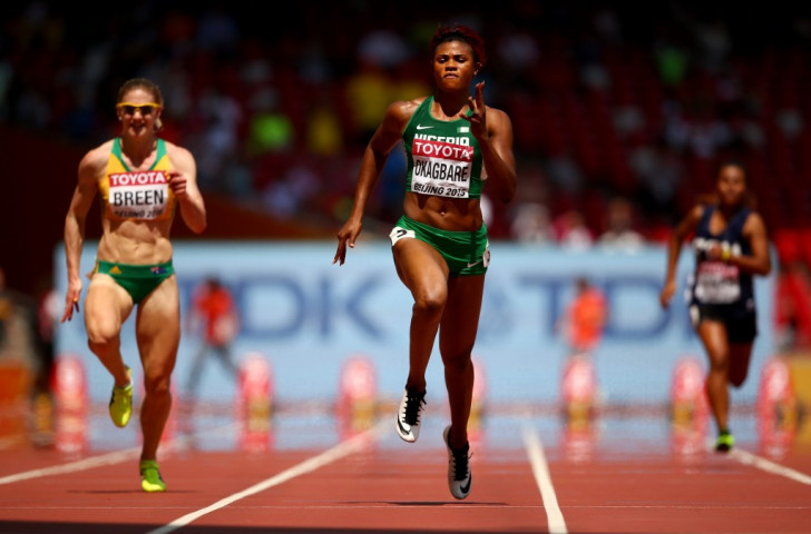 Nigeria's Blessing Okagbare, pictured at last year's IAAF World Championships in Beijing, will defend her African title in Durban this week ©Getty Images