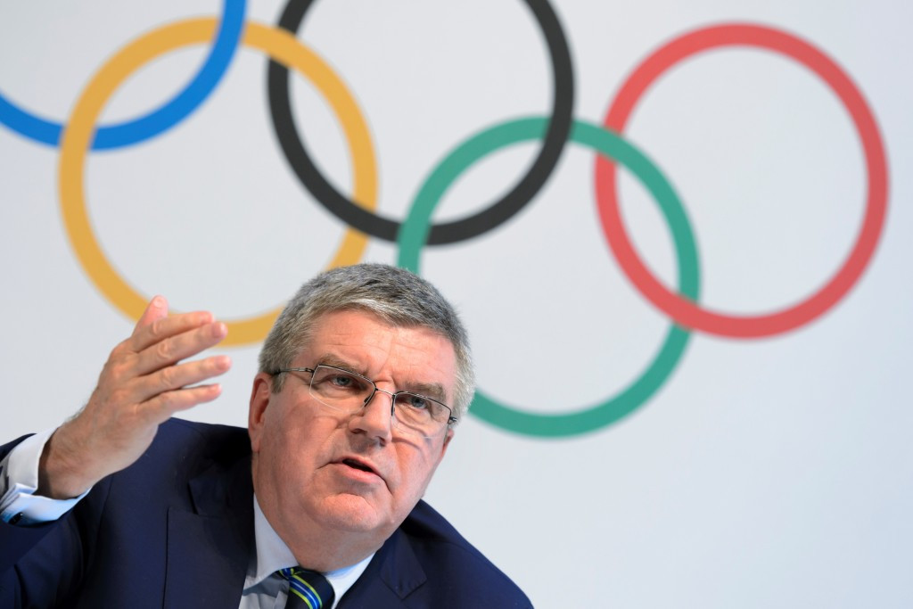 IOC President Thomas Bach strongly suggested that Russians deemed eligible to compete by the IAAF would do so under their own flag ©Getty Images