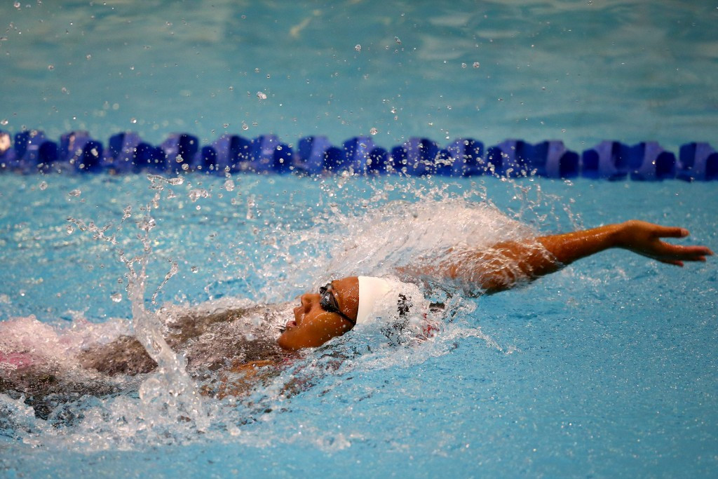 New Zealand's Gabrielle Fa'amausili was victorious in the mixed 400m medley relay and women's 100m backstroke
