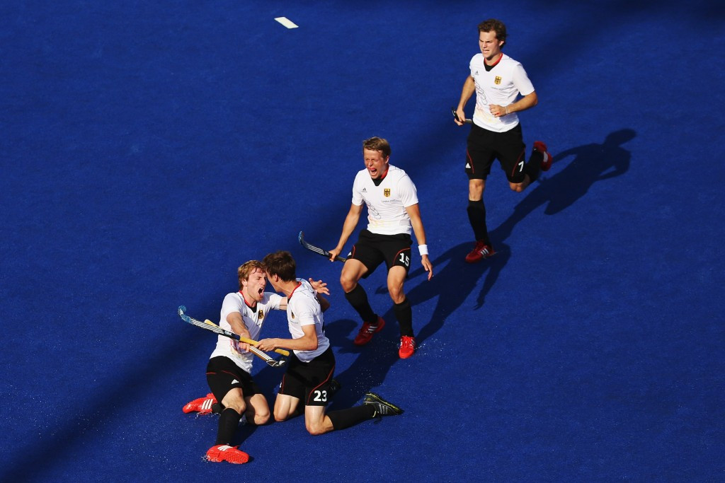 Olympic champions Germany bounced back from their defeat to Argentina by thrashing Canada