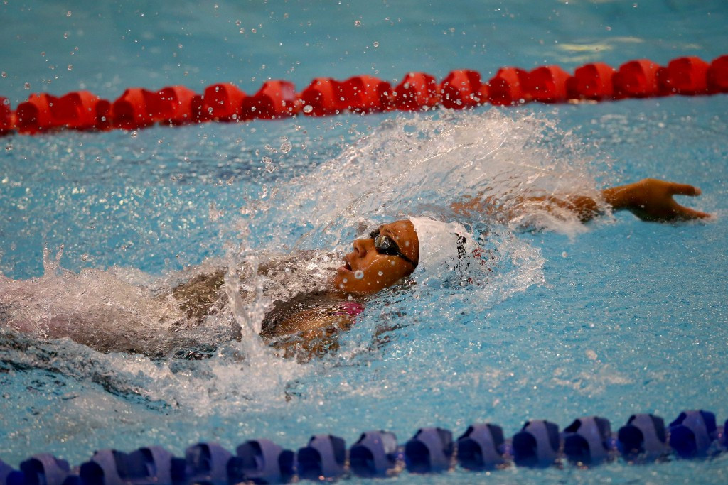 Gabrielle Fa'amausili was a member of New Zealand's triumphant mixed 200m medley relay team