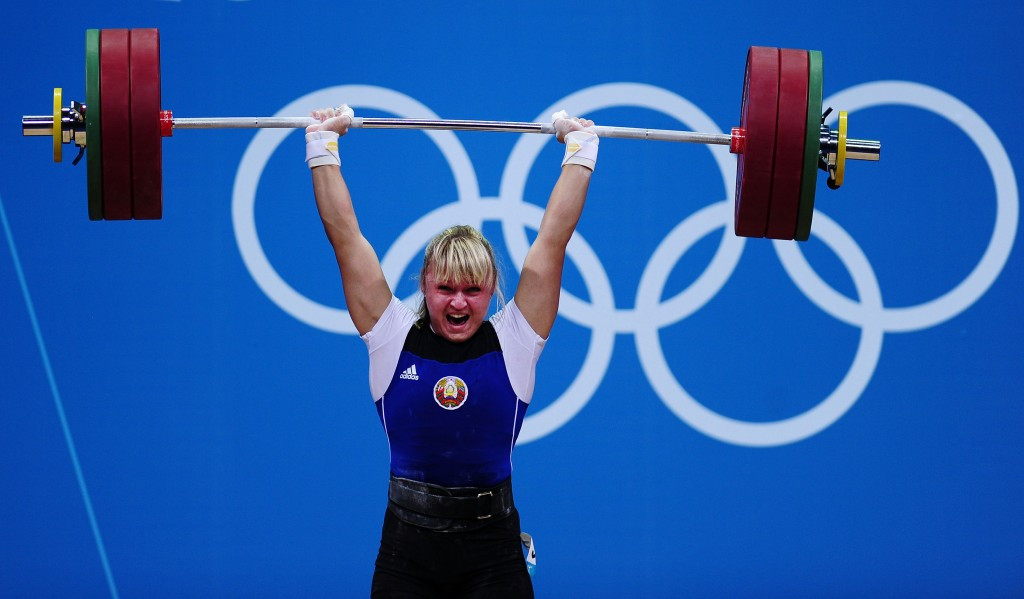 Maryna Shkermankova is one of three Belarusian weightlifters to have failed doping tests following the re-analysis of London 2012 samples by the International Olympic Committee ©Getty Images