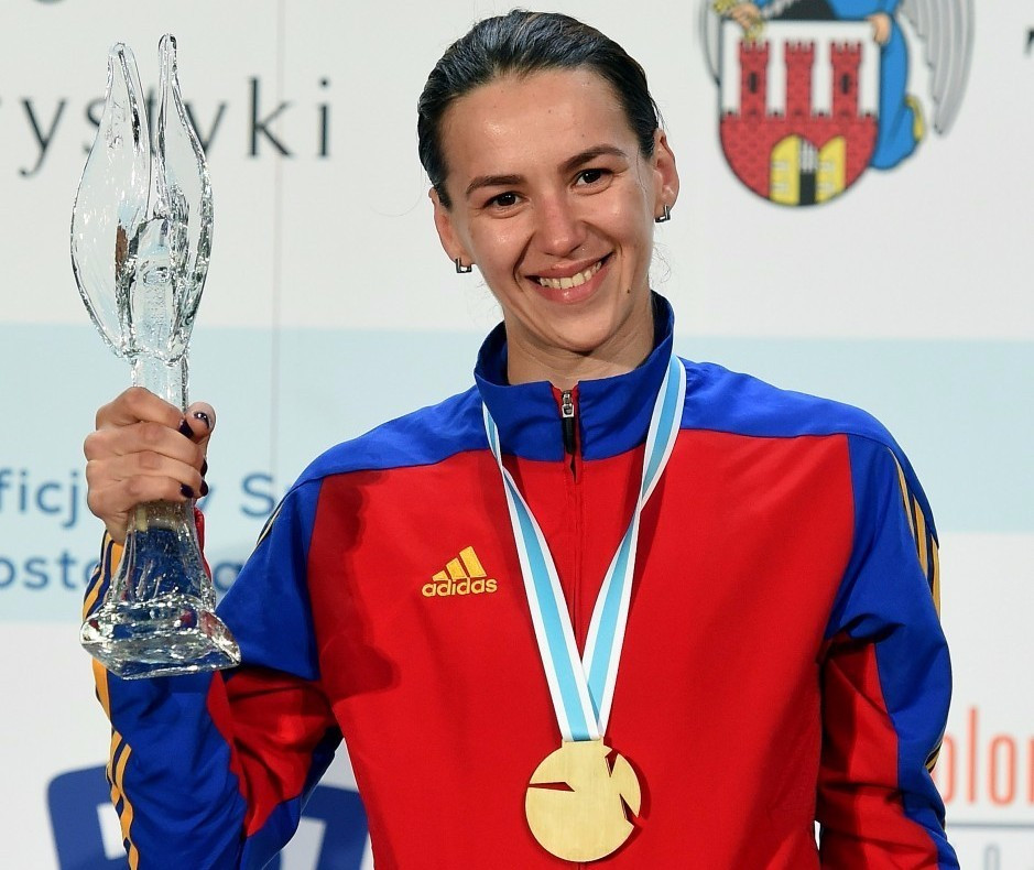Simona Gherman won the women's epee title after an all-Romanian final