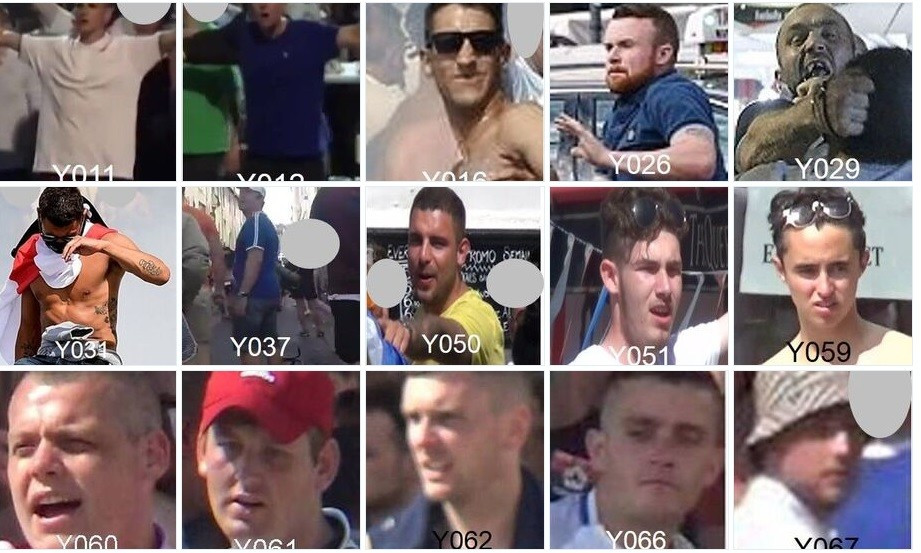 The NPCC have released a series of photographs of people they would like to speak to in connection with the violence in Marseille between England and Russia supporters