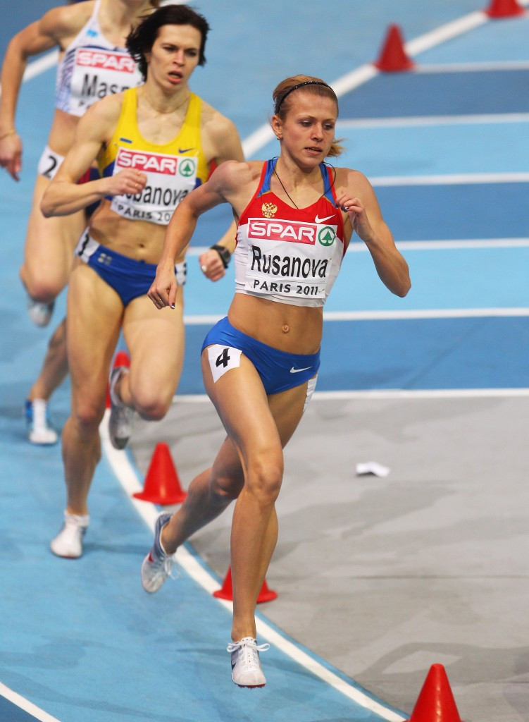 Doping cheat turned whistleblower Yulia Stepanova, here competing under her maiden name Rusanova, hopes to be allowed to compete at Rio 2016 as a neutral athlete ©Getty Images
