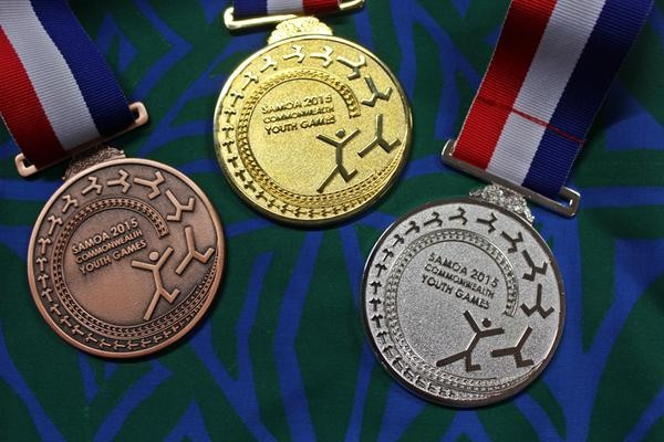 The Commonwealth Youth Games medals were designed by Nadya Va'a, who won a national competition