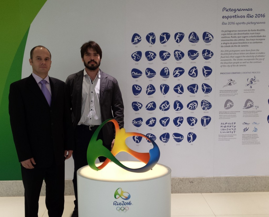 Rio 2016 weightlifting manager Pedro Meloni, right, pictured with IWF director general Attila Adamfi, assured the Congress delegates that competition at this year's Olympic Games will not be affected by budget cuts ©IWF