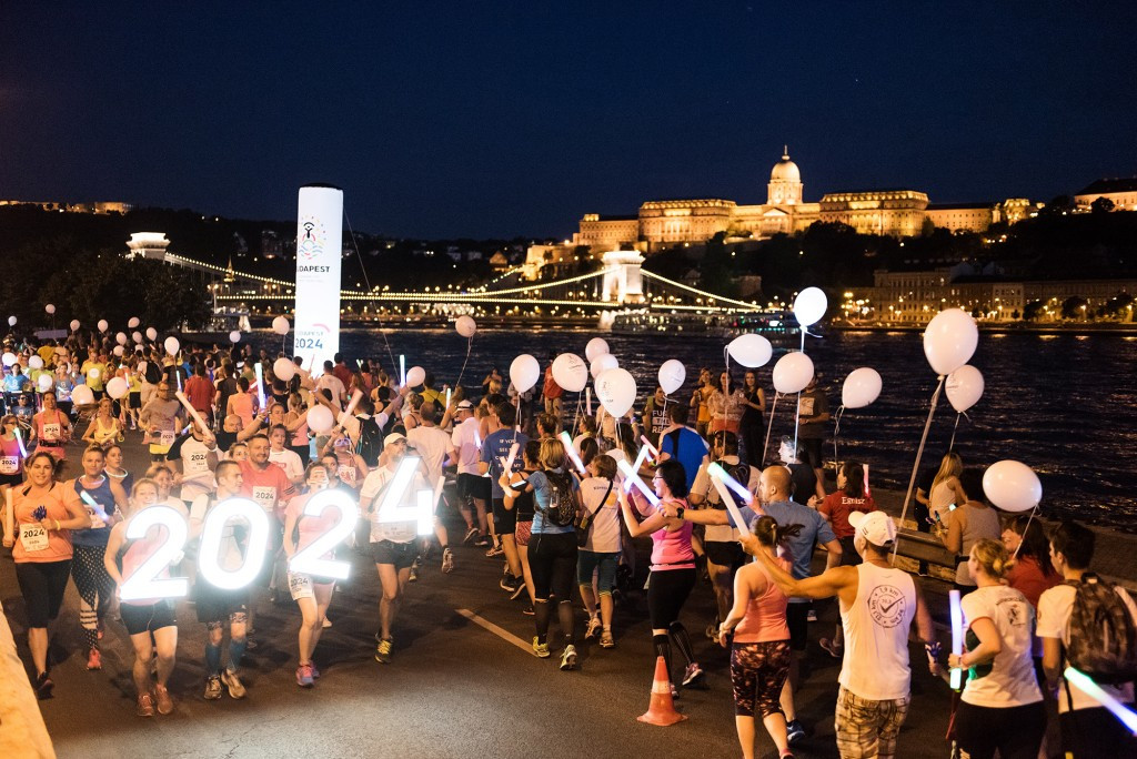 Budapest 2024 take part in evening fun-run to mark Olympic Day celebrations