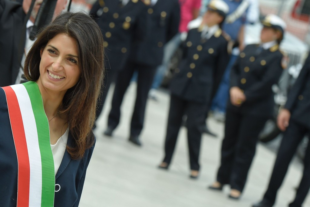 Virginia Raggi held her first Council meeting today in Rome ©Rome 2024