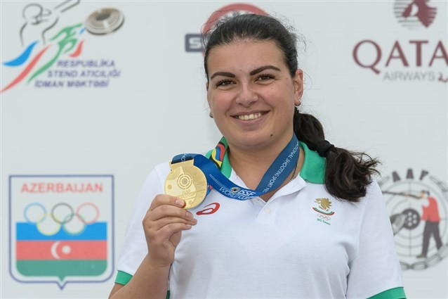 Bulgaria's Antoaneta Boneva won the women's 25m pistol event