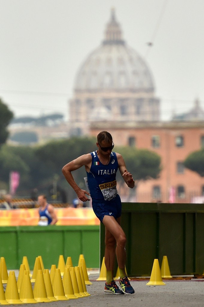 Alex Schwazer won the IAAF Race Walking Cup 50km race in Rome on his return from his last doping ban ©Getty Images
