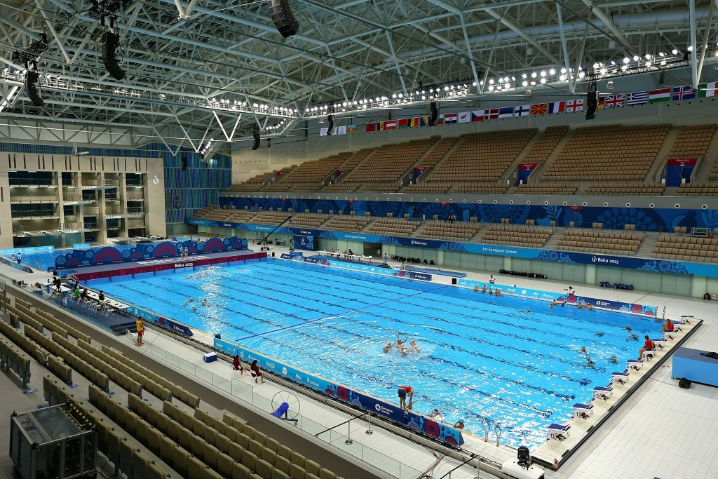Only junior level swimming and third tier athletics will take place at Baku 2015