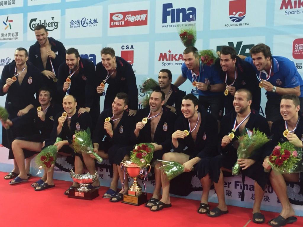 Serbia won their fourth straight FINA World League title ©Twitter/FINA