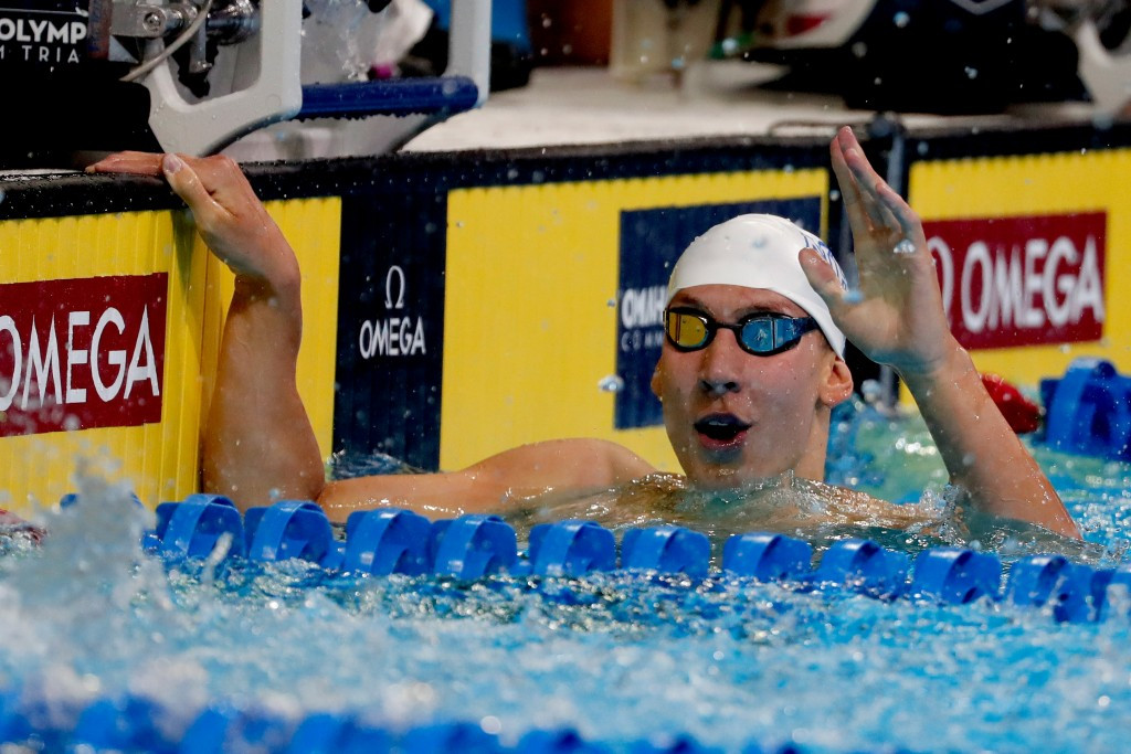 Chase Kalisz finished ahead of Ryan Lochte to win the 400m individual medley ©Getty Images