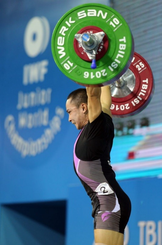 Witoon Mingmoon of Thailand lifted a total of 265kg to secure gold ©IWF