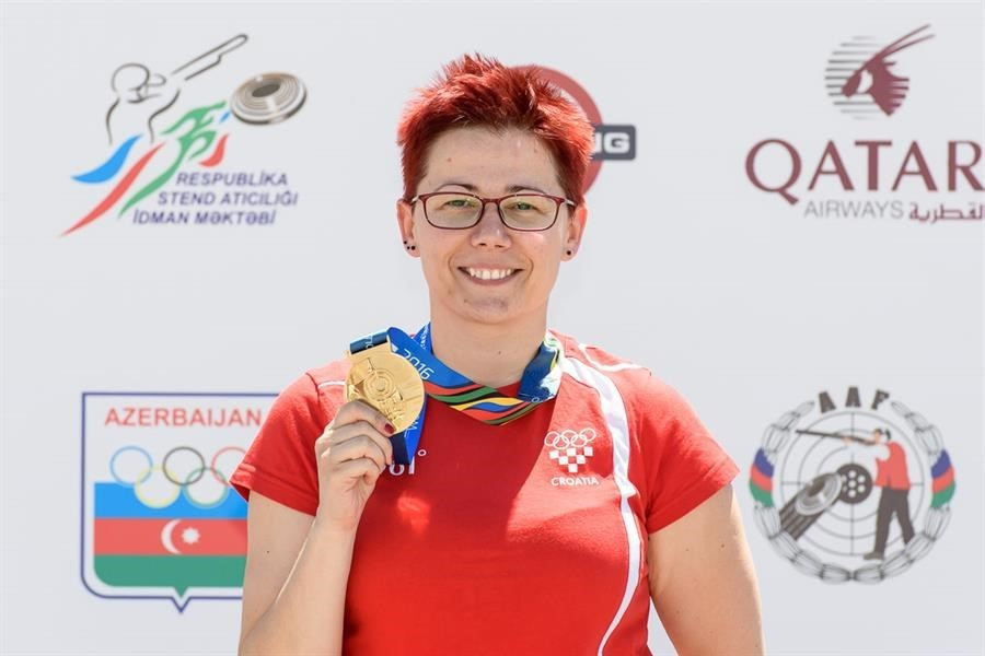 Croatia's Snejana Pejcic earned her third World Cup gold of the season ©ISSF