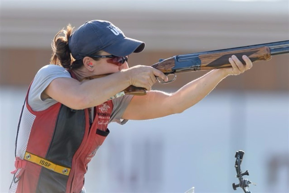 Amber English claimed her first World Cup gold by winning the in women's skeet event ©ISSF