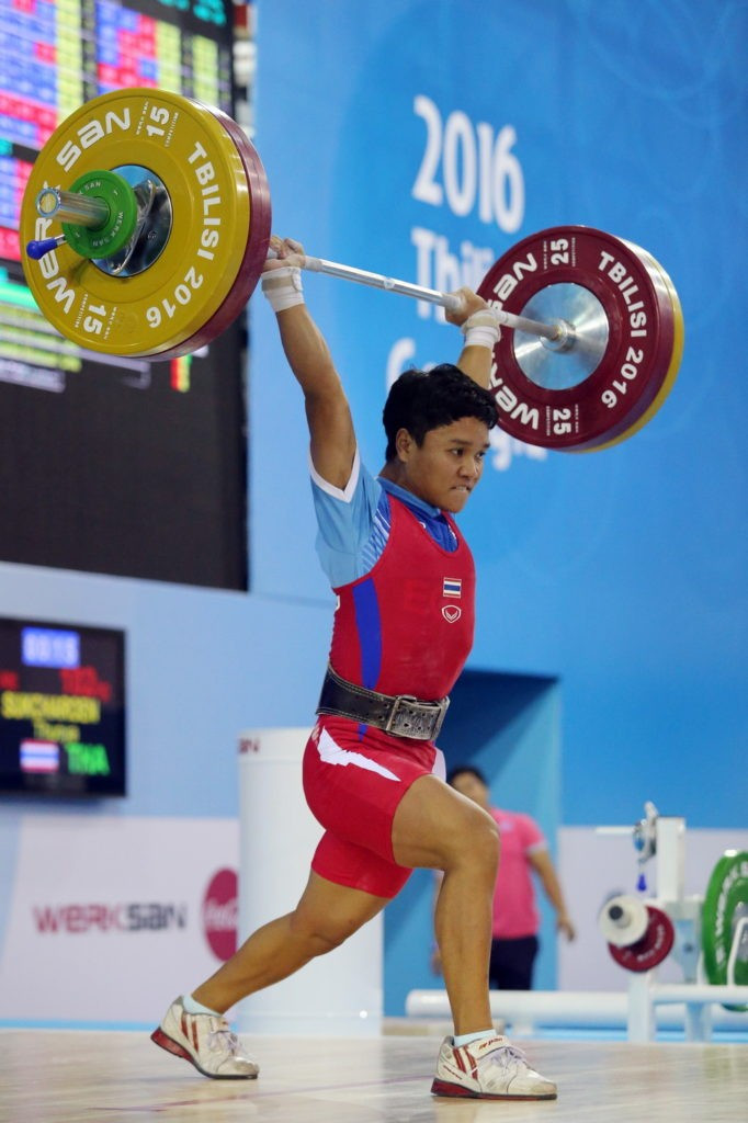 Thunya Sukcharoen claimed Thailand's second gold medal of the IWF Junior World Championships in Tbilisi after topping the women's 48kg podium ©IWF