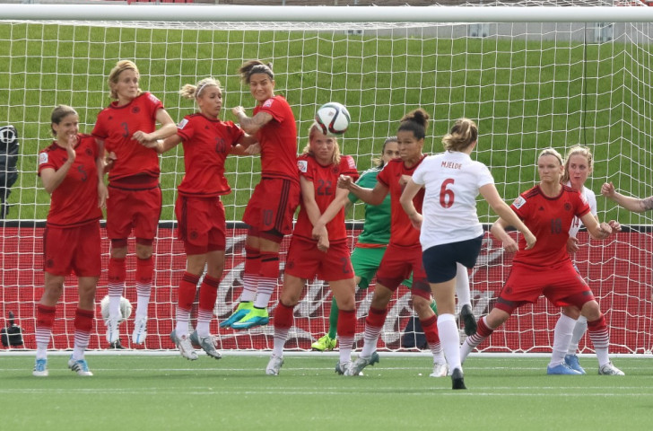 Maren Mjelde's superb free-kick gave Norway a 1-1 draw against Germany ©Getty Images