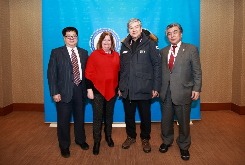 A first meeting between officials from the three Organising Committees was held in February ©Pyeongchang 2018
