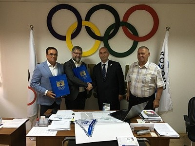 The Presidents of the World Minigolf Sport Federation and European Minigolf Sport Federation have met with Kosovo Olympic Committee counterpart Besim Hasani in Pristina ©WMF