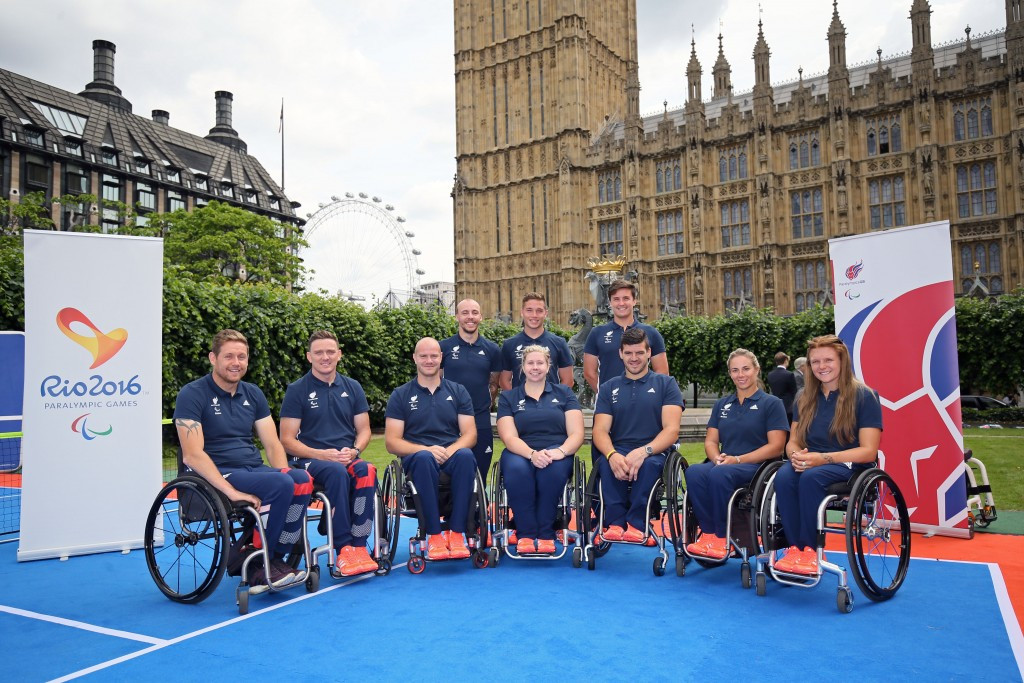 London 2012 silver medallist Lapthorne headlines Britain's wheelchair tennis team for Rio 2016