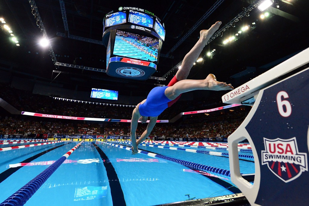 Missy Franklin endured a mixed day of backstroke defeat but freestyle semi-final success ©Getty Images
