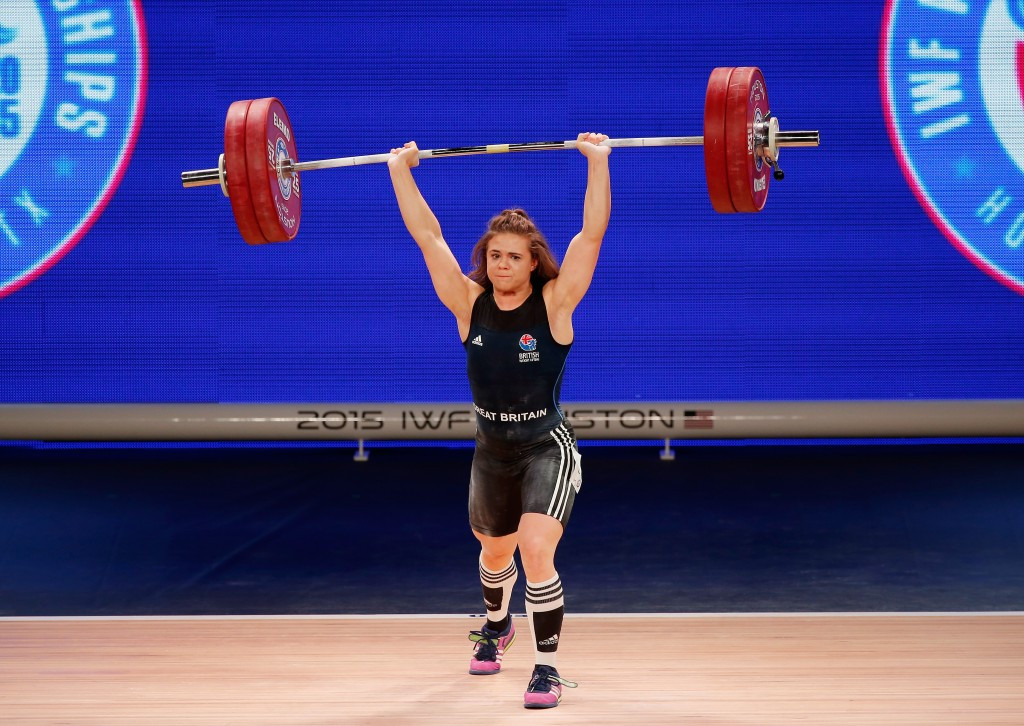 European bronze medallist Rebekah Tiler (pictured) is one of two weightlifters along with Sonny Webster that will represent Great Britain at this year's Olympic Games in Rio de Janeiro ©Getty Images