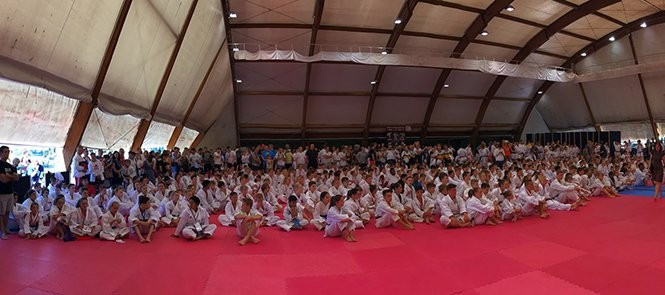 Karate legends lead opening training sessions at WKF Youth Training Camp