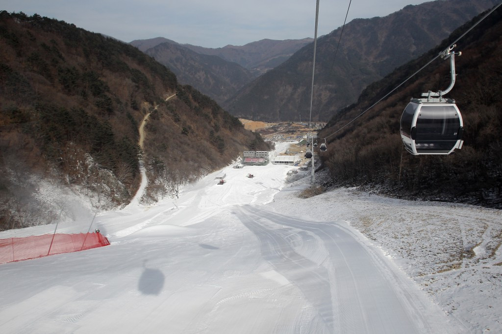 As part of the visit, the IPC Alpine Skiing and Snowboard representatives toured the Jeongseon Alpine Centre ©Getty Images