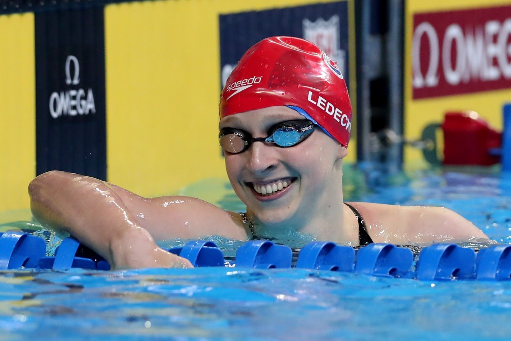 Katie Ledecky eased to victory in the women's 200 metres freestyle event ©Getty Images