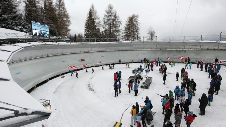 The 2017 FIL World Championships will take place at the Olympic Bobsleigh Run built for Innsbruck 1976 ©Tirol