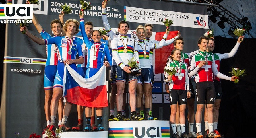 France claim third consecutive team relay title UCI Mountain Bike World Championships