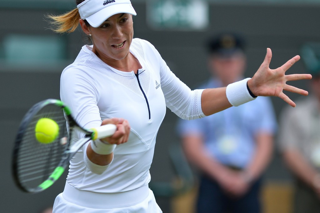 French Open champion Gabrine Muguruza crashed out in straight sets ©Getty Images