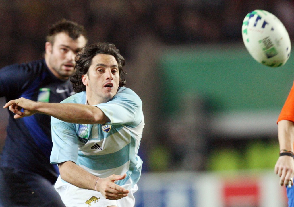 Agustín Pichot was an outstanding scrumhalf and captain for Argentina from 1995 to 2008, leading them to third place at the 2007 Rugby World Cup ©Getty Images