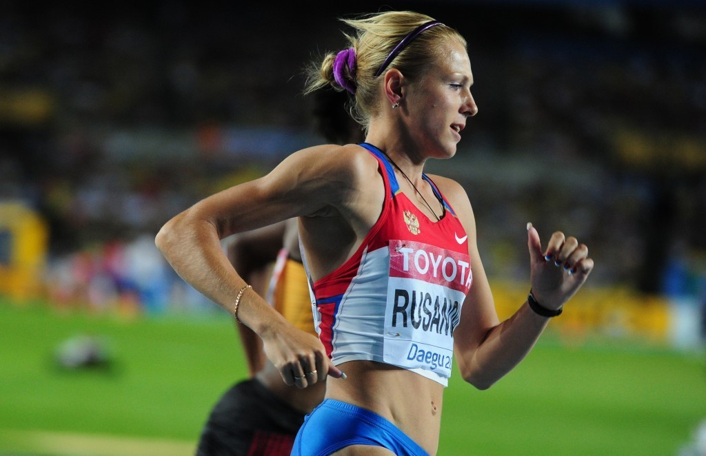 Yulia Stepanova, competing under her maiden name of Rusanova, at the 2011 IAAF World Championships 800m in Daegu. She won bronze, got promoted to silver, and then had her result annulled following a doping positive ©Getty Images