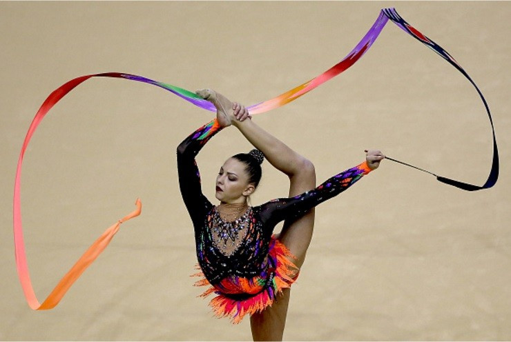 Belarus' Melitina Staniouta took home the all-around silver medal ©Getty Images
