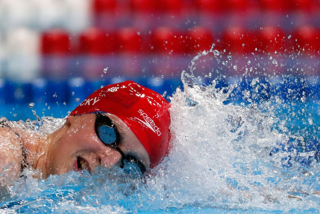 Katie Ledecky qualified in the 800m freestyle but was unable to beat her own world record ©Getty Images