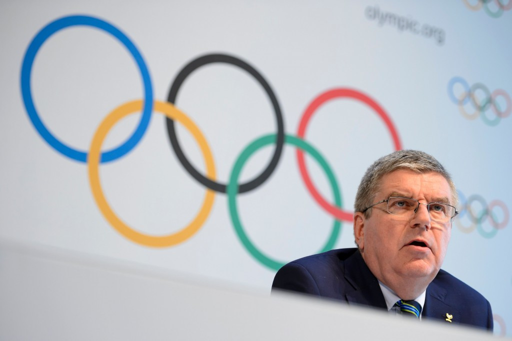 Thomas Bach suggested Russia athletes in Rio would compete under their own flag rather than a neutral one ©Getty Images