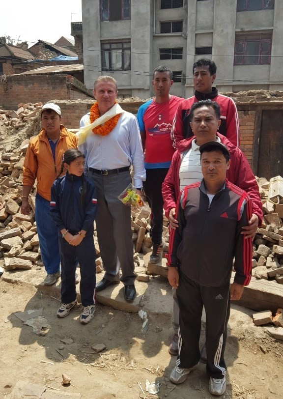 Bubka and the IOC offer moral and financial support for Nepal