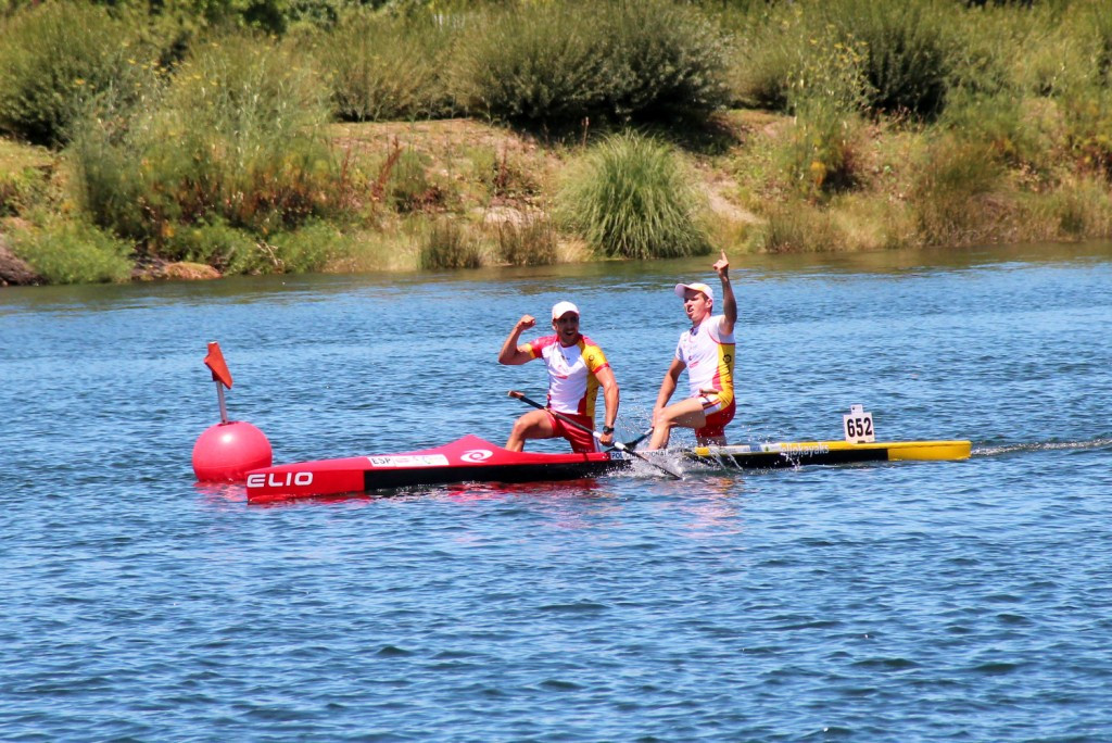 Spain secured two gold medals on the final day of the European Canoe Marathon Championships ©ECA
