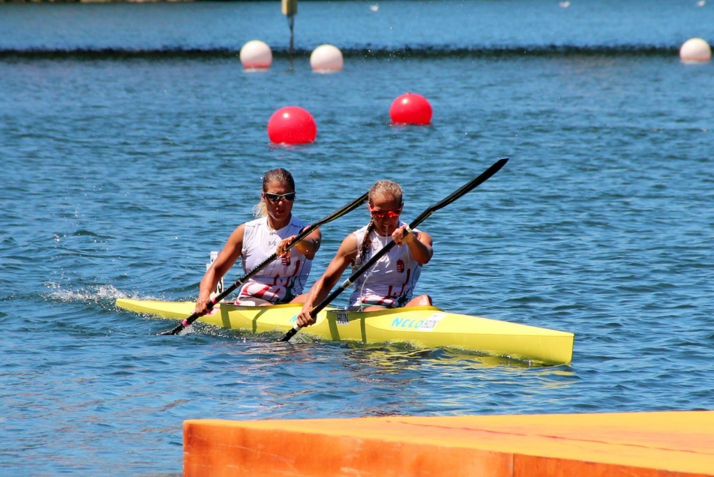Renata Csay and Alexandra Barra reigned supreme in the women's K2 to seal another title for Hungary ©ECA